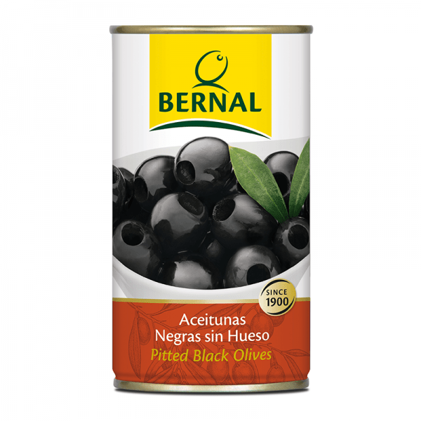 Pitted Black Olives 350g tin