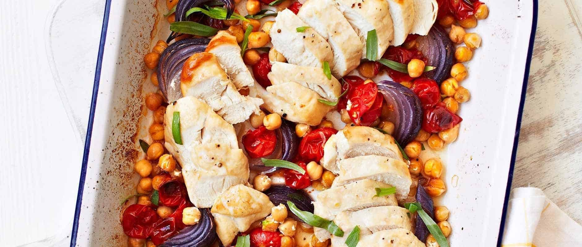 Quick-roast Chicken with Tomatoes, Chickpeas and Tarragon