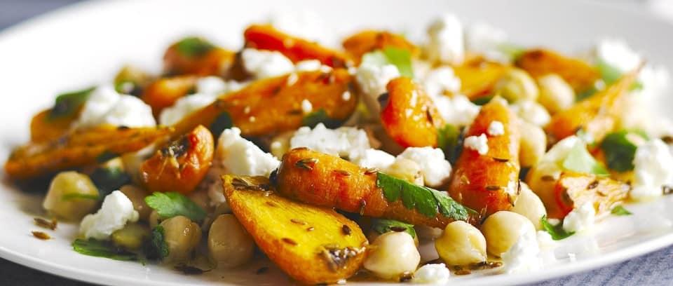 Roast Carrot, Cumin and Chickpea Salad