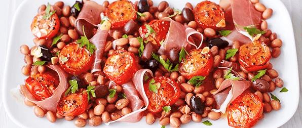 Prosciutto, Pinta and Roast Tomato Salad
