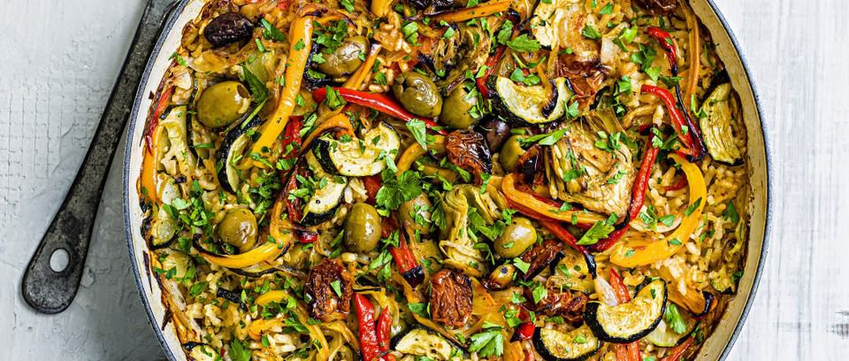 Sunblush Tomato and Olive Vegan Paella