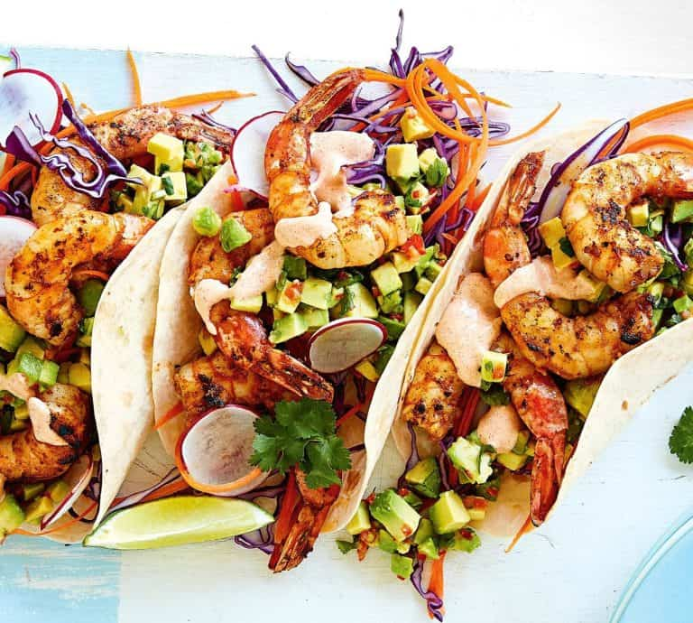 Ten-minute Prawn Tacos