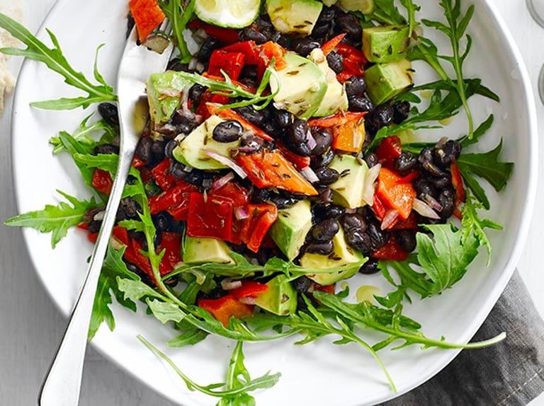 Tex-Mex Black Bean and Avo Salad